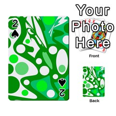 White and green decor Playing Cards 54 Designs
