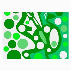 White and green decor Large Glasses Cloth