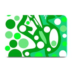 White and green decor Plate Mats