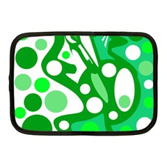 White and green decor Netbook Case (Medium)