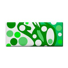 White And Green Decor Hand Towel