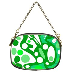 White and green decor Chain Purses (Two Sides)
