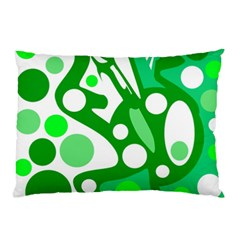 White and green decor Pillow Case