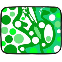 White and green decor Double Sided Fleece Blanket (Mini)