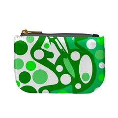 White and green decor Mini Coin Purses