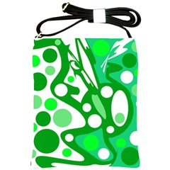 White and green decor Shoulder Sling Bags