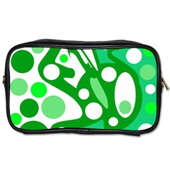 White and green decor Toiletries Bags 2-Side
