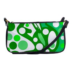 White and green decor Shoulder Clutch Bags