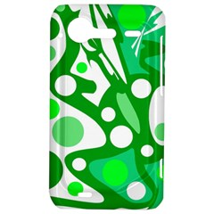White and green decor HTC Incredible S Hardshell Case