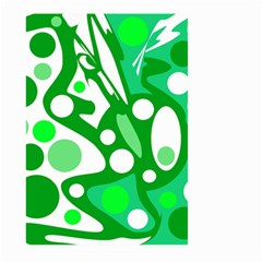 White and green decor Large Garden Flag (Two Sides)