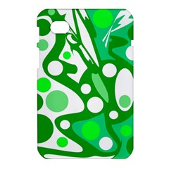 White and green decor Samsung Galaxy Tab 7  P1000 Hardshell Case