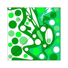 White and green decor Acrylic Tangram Puzzle (6  x 6 )