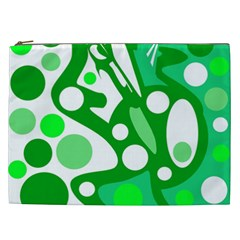 White and green decor Cosmetic Bag (XXL)