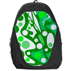 White and green decor Backpack Bag