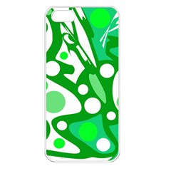 White and green decor Apple iPhone 5 Seamless Case (White)