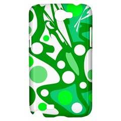 White and green decor Samsung Galaxy Note 2 Hardshell Case