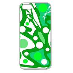 White and green decor Apple Seamless iPhone 5 Case (Clear)