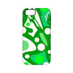 White and green decor Apple iPhone 5 Classic Hardshell Case (PC+Silicone)
