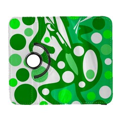 White and green decor Samsung Galaxy S  III Flip 360 Case