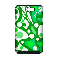White and green decor Samsung Galaxy Note 2 Hardshell Case (PC+Silicone)