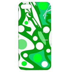 White and green decor Apple iPhone 5 Hardshell Case with Stand