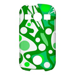 White and green decor Samsung Galaxy S7710 Xcover 2 Hardshell Case