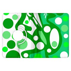 White and green decor Kindle Fire HDX Flip 360 Case