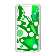 White and green decor Samsung Galaxy S5 Case (White)