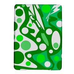 White and green decor iPad Air 2 Hardshell Cases