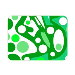 White and green decor Double Sided Flano Blanket (Mini)