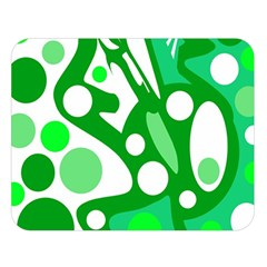 White and green decor Double Sided Flano Blanket (Large)