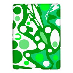 White and green decor Samsung Galaxy Tab S (10.5 ) Hardshell Case