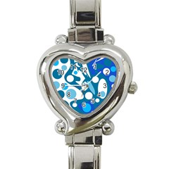 Blue and white decor Heart Italian Charm Watch