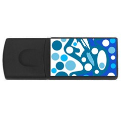 Blue and white decor USB Flash Drive Rectangular (4 GB)