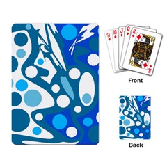 Blue and white decor Playing Card
