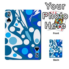 Blue and white decor Playing Cards 54 Designs
