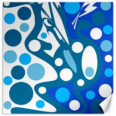 Blue and white decor Canvas 20  x 20