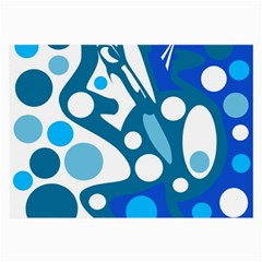 Blue and white decor Large Glasses Cloth (2-Side)