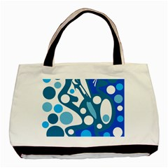 Blue and white decor Basic Tote Bag (Two Sides)