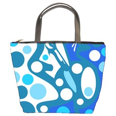 Blue and white decor Bucket Bags