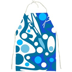 Blue and white decor Full Print Aprons