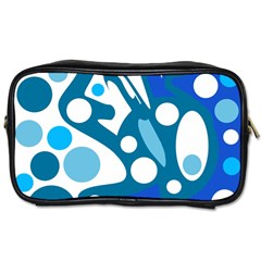Blue and white decor Toiletries Bags 2-Side