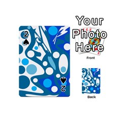 Blue and white decor Playing Cards 54 (Mini)