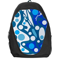 Blue and white decor Backpack Bag