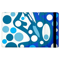 Blue and white decor Apple iPad 2 Flip Case