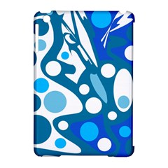 Blue and white decor Apple iPad Mini Hardshell Case (Compatible with Smart Cover)