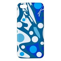 Blue and white decor iPhone 5S/ SE Premium Hardshell Case