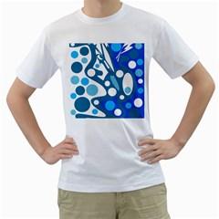 Blue and white decor Men s T-Shirt (White)