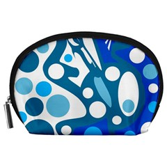 Blue and white decor Accessory Pouches (Large)