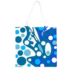 Blue and white decor Grocery Light Tote Bag
